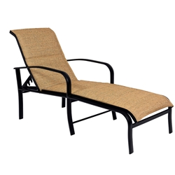 Woodard Fremont Padded Sling Adjustable Chaise Lounge - 2PH570