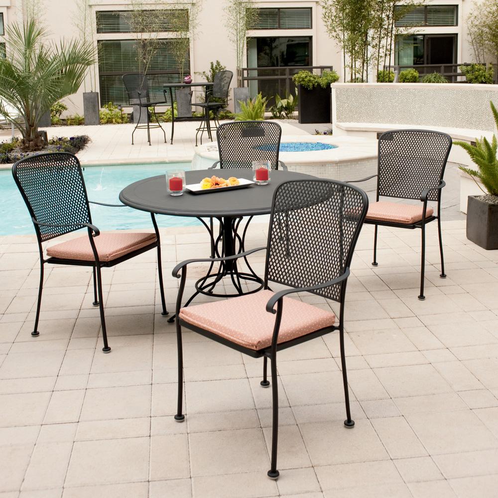 Outdoor Patio Furniture Miami: Woodard All Weather Miami 7 Piece Wicker Dining Set
