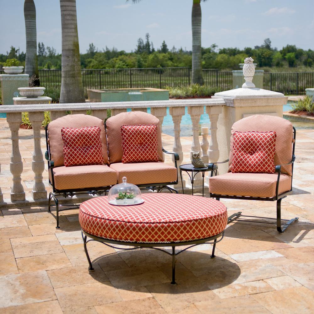 Woodard canaveral harper patio lounge set wd canaveral set2 for Woodard patio furniture