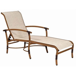 Woodard Glade Isle Sling Adjustable Chaise Lounge - 1Q0470