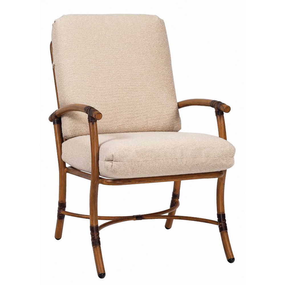 Woodard Glade Isle Cushion Dining Arm Chair - 1T0401