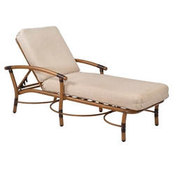 Woodard Glade Isle Cushion Adjustable Chaise Lounge - 1T0470