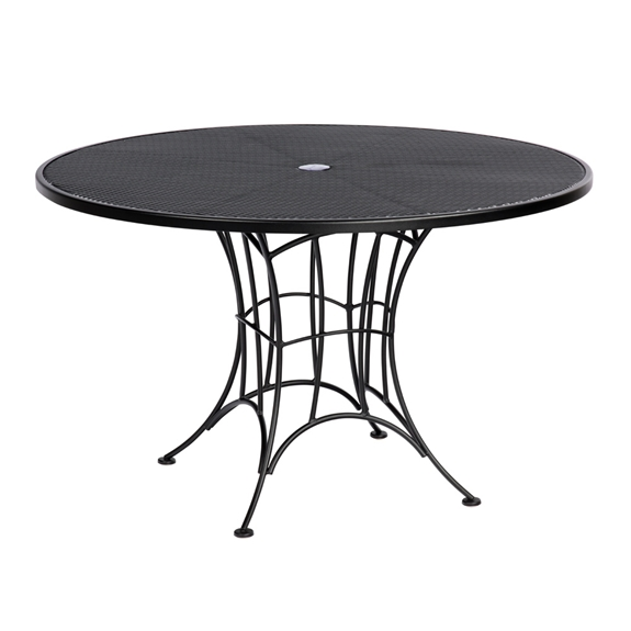Woodard Hamilton Round Wrought Iron Dining Table With