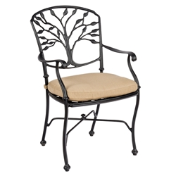 Woodard Heritage Dining Arm Chair with Optional Cushion - 8F0401