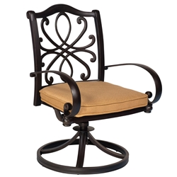 Woodard Holland Swivel Rocking Dining Chair - 7z0472