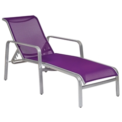 Woodard Landings Sling Stackable Adjustable Chaise Lounge - 6G0470