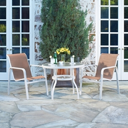 Woodard Landings Aluminum Sling Outdoor Dining Set for 2 - WD-LANDINGS-SET4