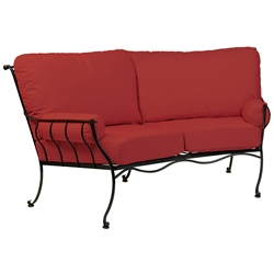 Woodard Maddox Crescent Loveseat - 7F0063