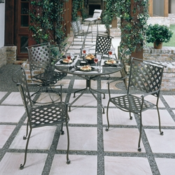 Maddox Wrought Iron Dining Set for 4