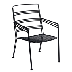 Woodard Madison Wrought Iron Stackable Dining Chair - 2D0017