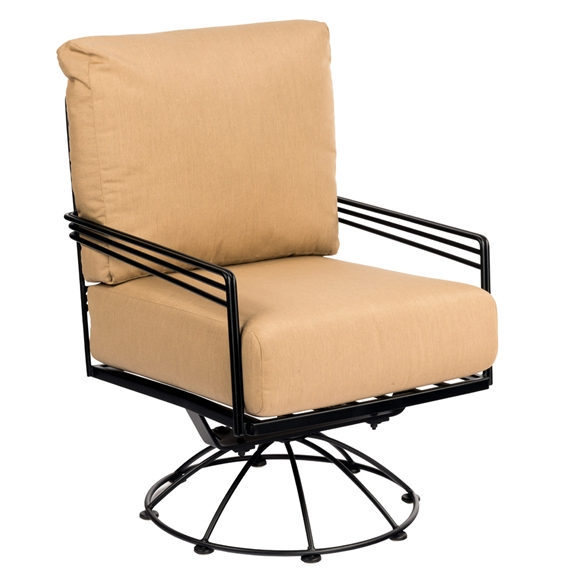 Fantastic Woodard Madison Wrought Iron Swivel Rocking Lounge Chair Bralicious Painted Fabric Chair Ideas Braliciousco