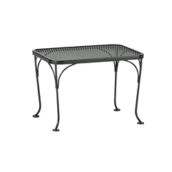 Woodard 18 inch by 24 inch Mesh Top Rectangle Side Table - 190040