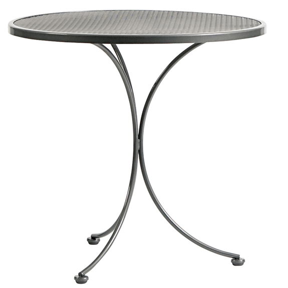 Woodard 30 inch Round Mesh Top Bistro Table - 190134