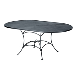Woodard 42 inch by 72 inch Oval Mesh Top Umbrella Table - 190143