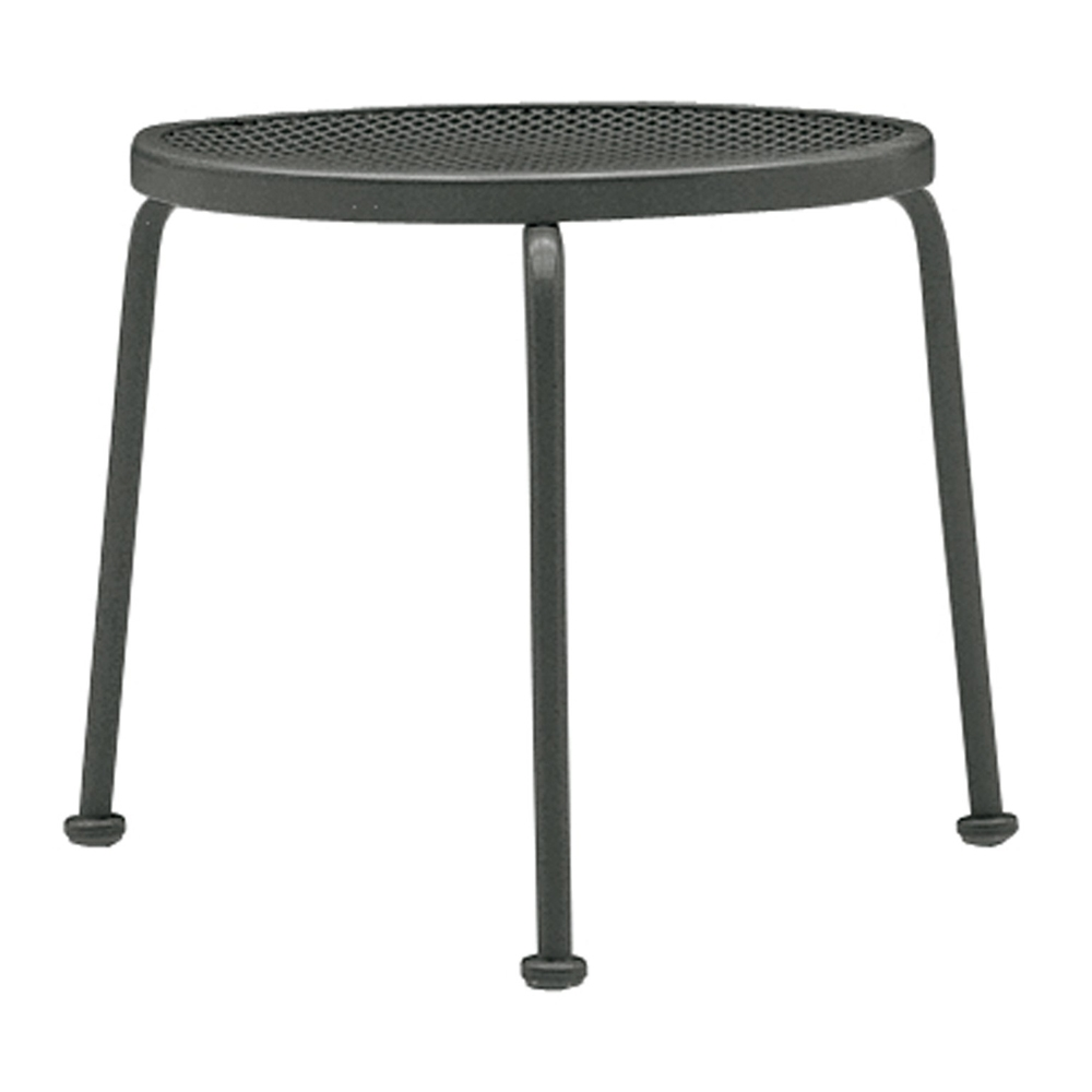 Woodard 17 inch round Stacking Mesh Top End Table - 190156