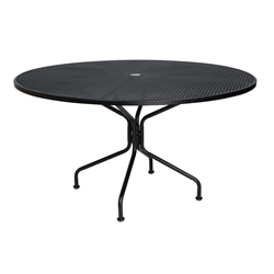 Woodard 54 inch round Premium Mesh Top RTA Umbrella Table - 190227