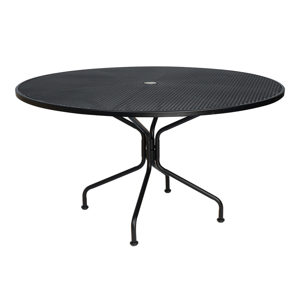 2a50b2008541 Woodard 54 inch round Premium Mesh Top RTA Umbrella Table | 190227