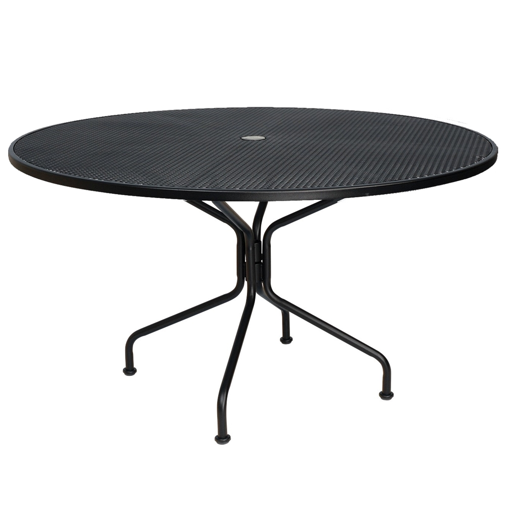 Woodard 48 inch round Premium Mesh Top RTA Umbrella Table - 190228