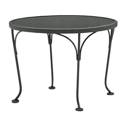 Woodard 24 inch round Mesh Top End Table - 190244