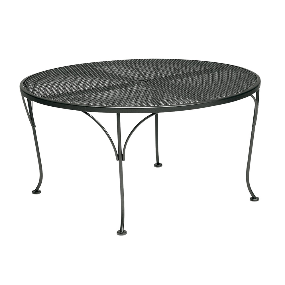 Woodard 42 inch round Mesh Top Umbrella Chat Table - 190294