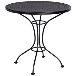 Woodard 30 Inch Pattern Metal Round Bistro Table - 380032