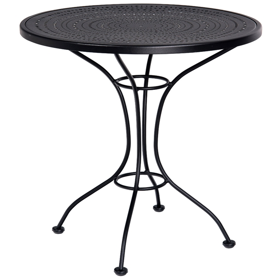 Brilliant Woodard 30 Pattern Metal Round Bistro Table Theyellowbook Wood Chair Design Ideas Theyellowbookinfo