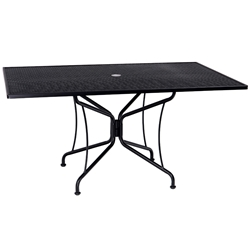 Woodard 42 Inch x 60 Inch Rectangular Premium Mesh Top Table  - 880317