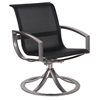 Woodard Metropolis Sling Swivel Dining Arm Chair - 320472