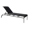 Woodard Metropolis Stacking Padded Sling Adjustable Chaise Lounge - 320570