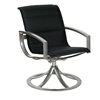 Woodard Metropolis Padded Sling Swivel Dining Arm Chair - 320572