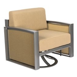 Woodard Metropolis Cushion Gliding Swivel Lounge Chair - 3G0279