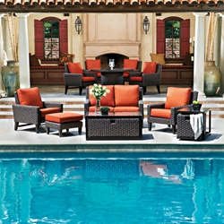 Woodard Mona 6 Piece Patio Set - WHITECRAFT-MONA-SET3