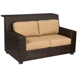 Woodard Montecito Wicker Love Seat Bar - S511071