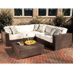 Woodard Montecito L Sectional Set - WHITECRAFT-MONTECITO-SET3