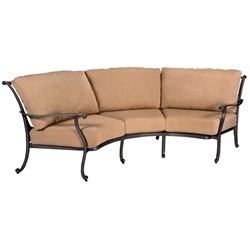 Woodard New Orleans Crescent Sofa - 3W0464