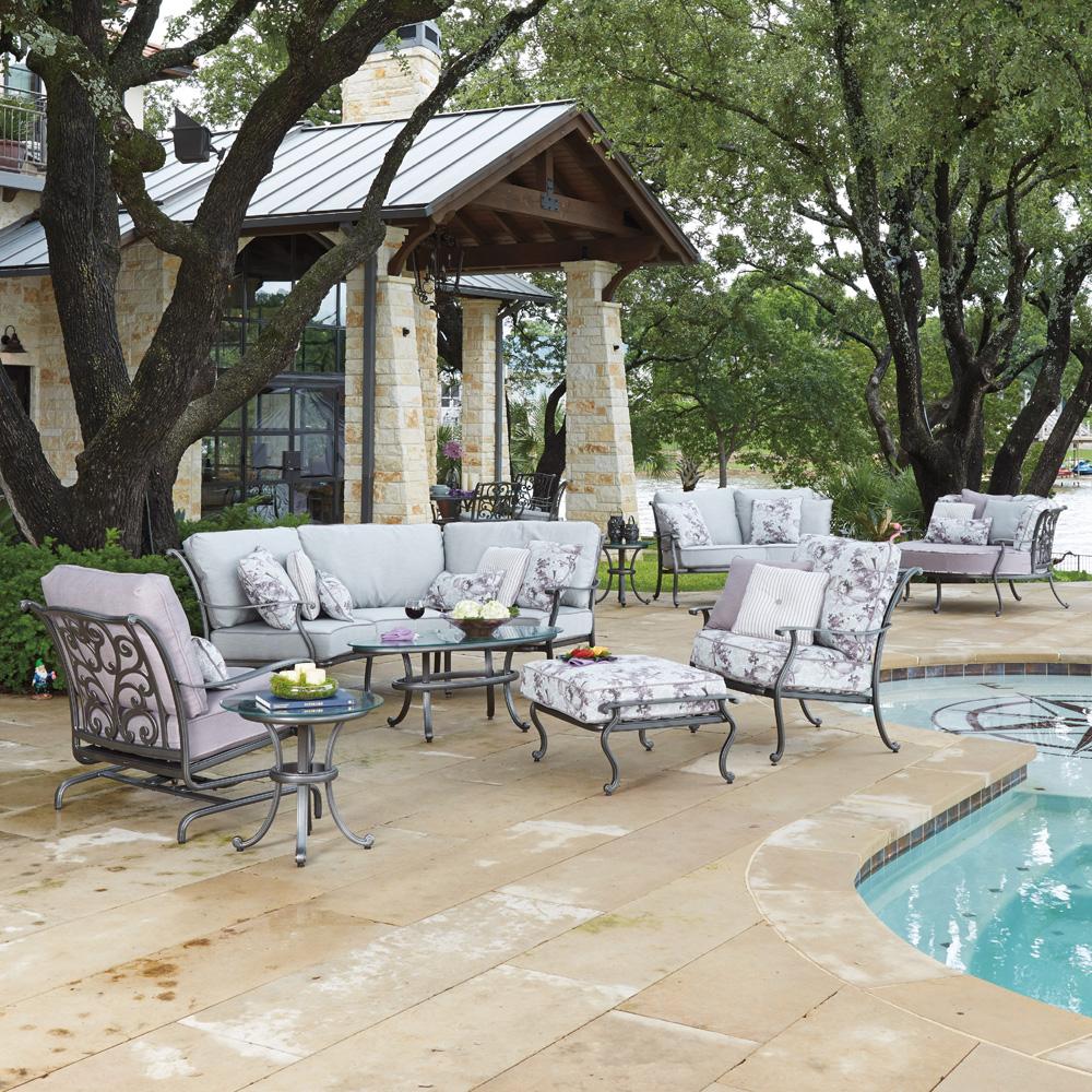 Woodard New Orleans Curved Sofa Set   WD NEWORLEANS SET1
