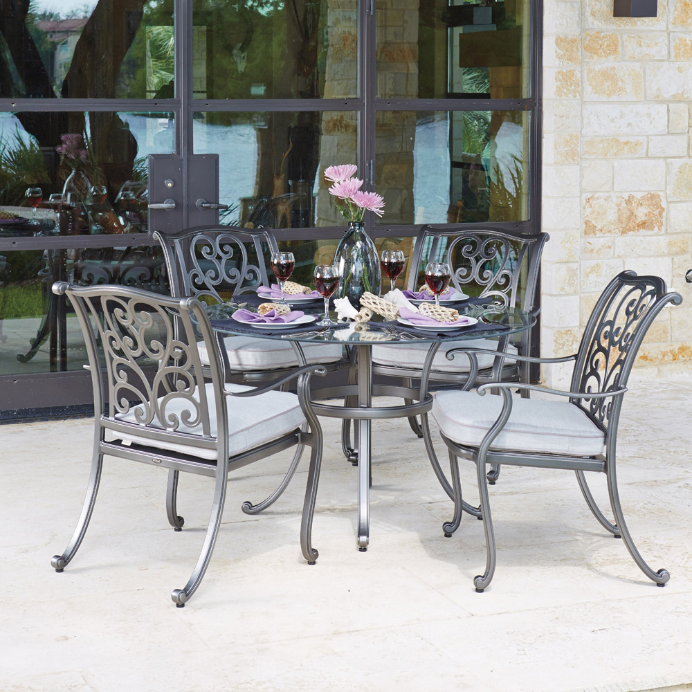 Delightful Woodard New Orleans 5 Piece Dining Set   WD NEWORLEANS SET3
