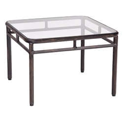 Woodard Nob Hill End Table with Glass Top - 3U24BT