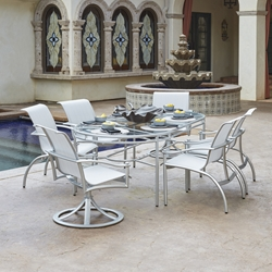 Woodard Nob Hill Sling Outdoor Dining Set for 6 - WD-NOBHILL-SET4