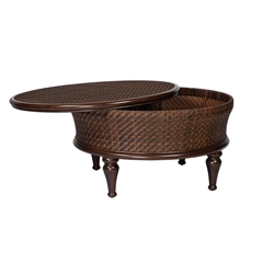 Woodard North Shore Round Storage Cocktail Table - S540211