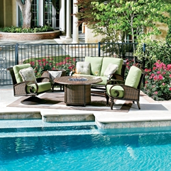 Woodard North Shore Fire Pit Patio Set - WHITECRAFT-NORTHSHORE-SET3