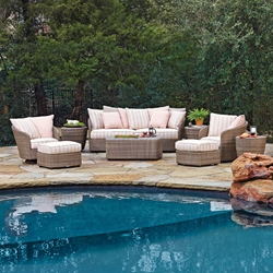 Woodard Oasis Wicker Patio Sofa Set - WD-OASIS-SET2