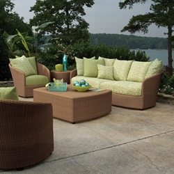 Woodard Oasis 5 Piece Lounge Set - WHITECRAFT-OASIS-SET1