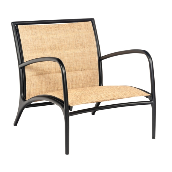 Astounding Woodard Orion Lounge Chair With Padded Sling Machost Co Dining Chair Design Ideas Machostcouk