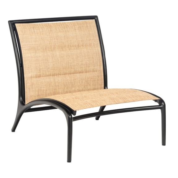 Awe Inspiring Woodard Orion Armless Lounge Chair With Padded Sling Machost Co Dining Chair Design Ideas Machostcouk