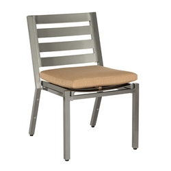 Woodard Palm Coast Slat Dining Side Chair with Seat Cushion - 1Y0412ST