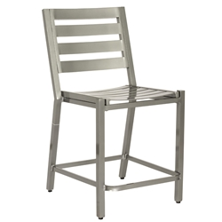 Woodard Palm Coast Slat Counter Stool without Arms  - 1Y0771