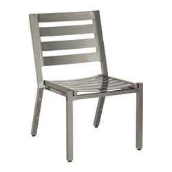 Woodard Palm Coast Slat Armless Dining Chair - Stacking - 1Y0412