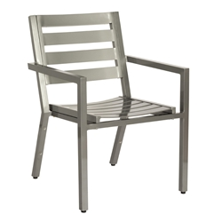 Woodard Palm Coast Slat Dining Arm Chair - Stacking - 1Y0417