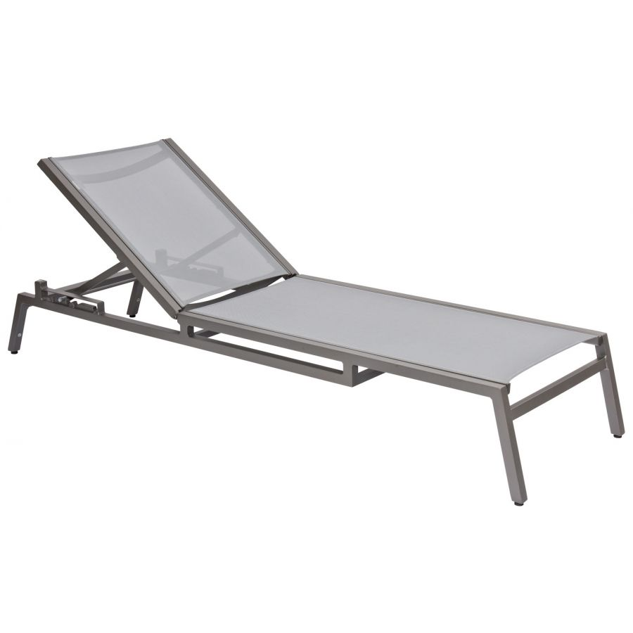 Exceptional Woodard Palm Coast Sling Adjustable Stacking Chaise Lounge   570470
